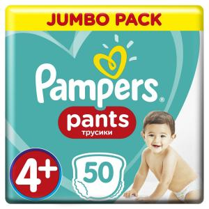 Подгузники-трусики  Pants Maxi Plus р. 4+ (9-15 кг) 50 шт. Pampers
