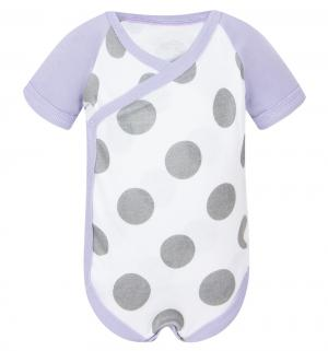 Боди , цвет: белый/фиолетовый Happy Baby