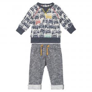 Комплект (толстовка и брюки) серый DEUX PAR. Цвет: серый