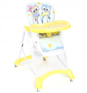 Стульчик для кормления  S1 Совушки, цвет: желтый/голубой Corol