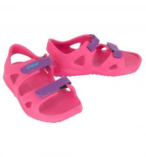 Сандалии пляжные  Swiftwater River Sandal K, цвет: розовый Crocs