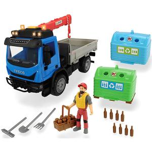 Игровой набор перевозчика стеклотары  Playlife, 7 аксессуаров Dickie Toys. Цвет: разноцветный