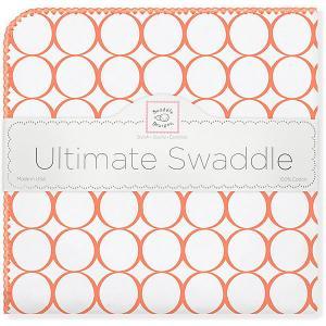 Фланелевая пеленка  Orange Mod, 110х110 см SwaddleDesigns. Цвет: оранжевый