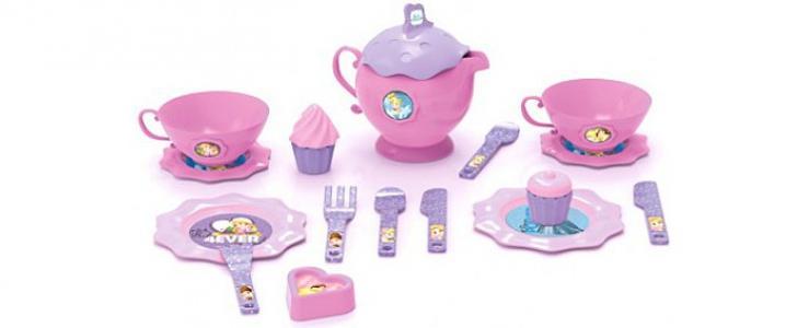 Игровой набор посуды для чая Принцесса малый Bildo