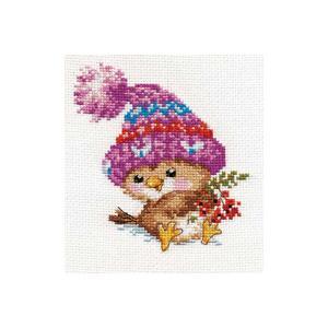 Набор для вышивания  Воробушек 11х12 см Алиса