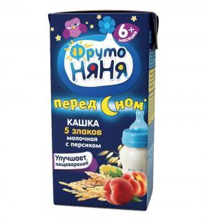 Каша  молочная мультизлаковая с персиком 6 месяцев 200 г 1 шт ФрутоНяня