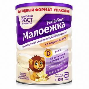 Смесь  «Малоежка» для диетического питания со вкусом ванили, 850 г PediaSure