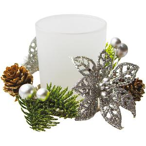 Подсвечник Рождественский цветок 7см, серебро Marko Ferenzo