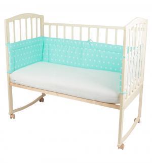 Бортик в кроватку , цвет: зеленый 30 х см Моей крохе