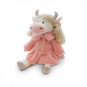 Мягкая игрушка  Коровка Варвара в розовой шубке 27 см Maxitoys