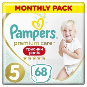 Трусики-подгузники  Premium Care Pants, р. 5, 12-17 кг, 68 шт Pampers