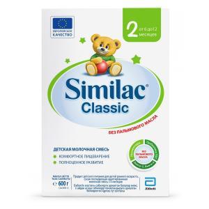 Молочная смесь  Classic 2 с 6 месяцев, 600 г Similac