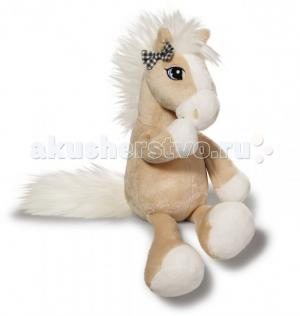 Мягкая игрушка  Лошадка Даймонд бежевая сидячая 50 см Nici
