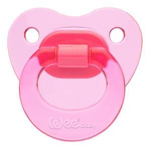 Соска-пустышка Weebaby ортодонтическая CANDY, от 18 мес., розовая