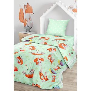 Комплект постельного белья  Лисята, 1,5-спальное Juno. Цвет: разноцветный
