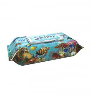 Влажные салфетки  Aqua, 80 шт Skippy