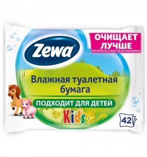 Влажная туалетная бумага детская , 42 шт Zewa