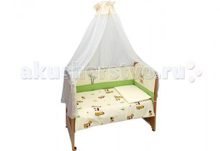 Комплект в кроватку  Веселые друзья (7 предметов) Bombus