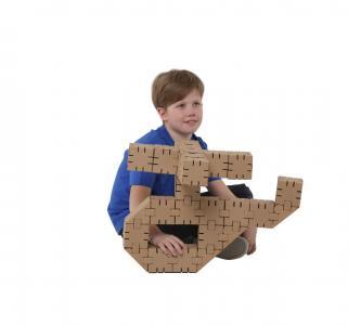 Конструктор из картона  45 деталей Yohocube