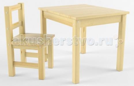 Набор детской мебели (стол, стул) деревянный покрыт лаком Русские игрушки