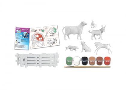 Раскраска  Раскрась животных своей собственной фермы Breyer