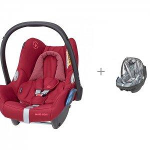 Автокресло  Cabrio Fix и дождевик Raincover BB Car Seat Maxi-Cosi