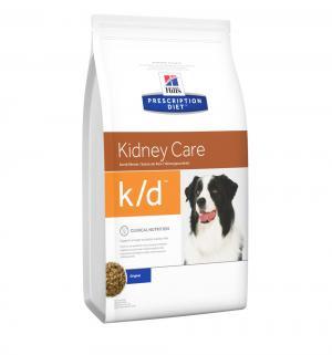 Сухой диетический корм Hills Prescription Diet k/d для взрослых собак при заболеваниях почек, мясное ассорти, 2кг Hill's
