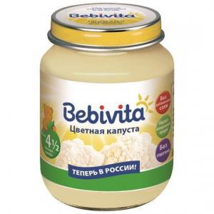 Пюре  цветная капуста с 4 месяцев, 100 г Bebivita