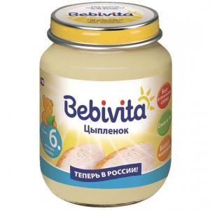 Пюре  цыпленок с 6 месяцев, 100 г Bebivita
