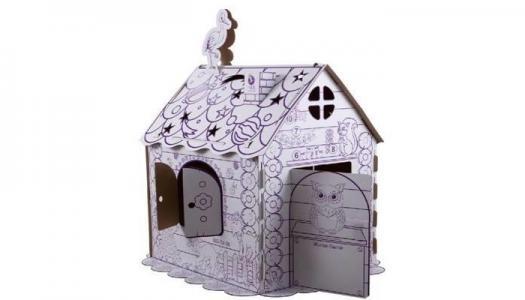 Картонный игровой домик-раскраска ПМДК