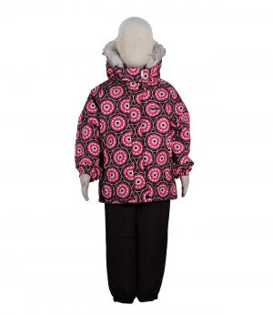Костюм зимний для девочки (розовый/коричневый) Rasavil. Цвет: розовый