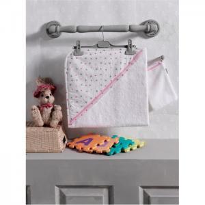 Комплект полотенце-уголок + варежка Cute Bear Kidboo