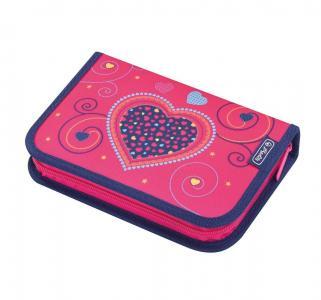 Пенал  с наполнением Pink Hearts 31 предмет 20.5х14х3.5 см Herlitz