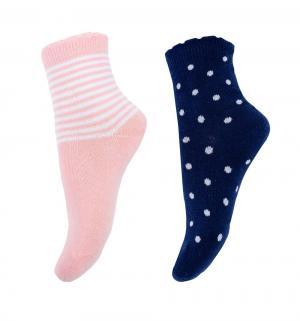 Комплект носки 2 пары  Английский завтрак, цвет: розовый/синий Play Today