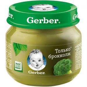 Пюре  брокколи с 4 месяцев, 80 г Gerber