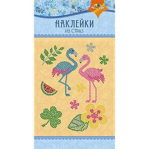 Набор для творчества Апплика Декоративные наклейки из страз Фламинго