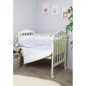 Комплект в кроватку  Серебряная нить (7 предметов) Сонный гномик