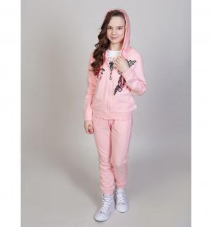 Комплект толстовка/брюки  Фламинго, цвет: розовый Luminoso