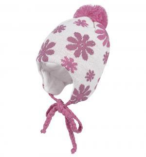 Шапка  Ada, цвет: белый/розовый Ewa