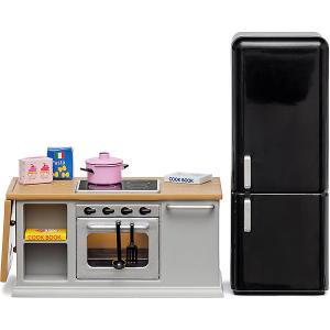 Набор мебели для домика  Кухонный остров и холодильник Lundby. Цвет: разноцветный