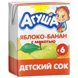 Сок  яблоко-банан, 200 мл Агуша