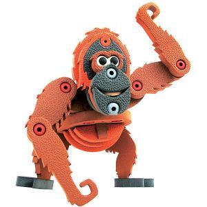 Мягкий 3D конструктор  Орангутанг, 56 деталей Bebelot