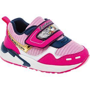 Кроссовки  для девочки Crosby. Цвет: розовый