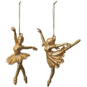 Ёл. укр.CLASSIC GOLD балерина, 14,5см, 2шт, золотая Marko Ferenzo
