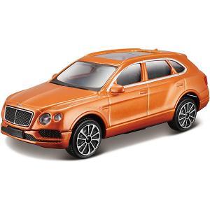Коллекционная машинка  Bentley Bentayga Range 1:43, оранжевая Bburago. Цвет: оранжевый