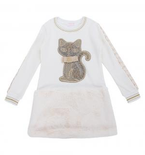 Платье  Золотые кошки, цвет: белый Colabear