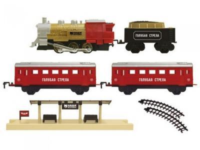 Железная дорога Локомотив с вагончиками 580 см 94381 Голубая стрела
