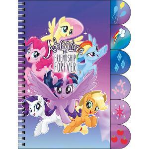 Ноутбук My Little Pony с цветными разделителями 60л Академия групп. Цвет: разноцветный