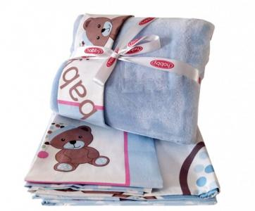 Комплект в кроватку  с покрывалом Ponpon (5 предметов) Hobby Home Collection