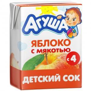 Сок  яблоко, 200 мл Агуша
